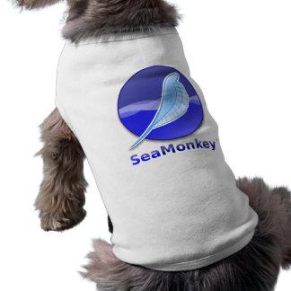 SeaMonkey Text-Logo Ärmelfreies Hunde-Shirt