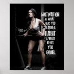 Séance d'entraînement de motivation posters