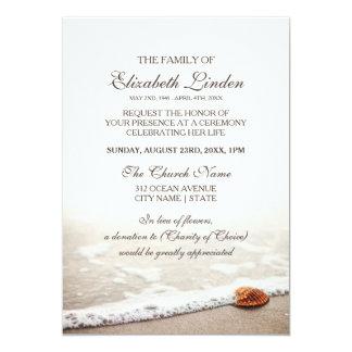 Seashell auf der Strand-Gedenkveranstaltung 12,7 X 17,8 Cm Einladungskarte