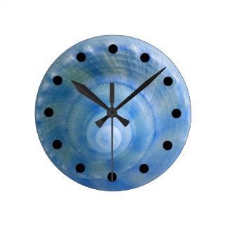 Seashell-Bad-Set-Wand-Uhr Runde Wanduhr