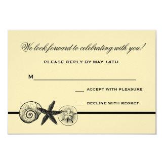 Seashell hütet Hochzeits-Wartekarte 8,9 X 12,7 Cm Einladungskarte