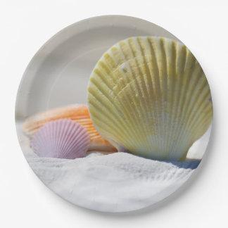 """SeaShell-PapierTeller 9"""" Pappteller 22,9 Cm"""