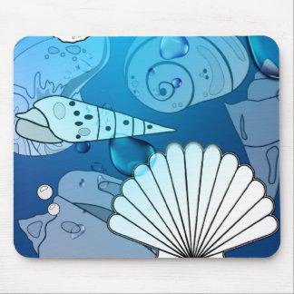 Seashells-Aqua-Ozean Mosepad Mauspad