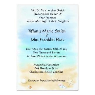 Seashells auf den Strand-Hochzeits-Einladungen 12,7 X 17,8 Cm Einladungskarte