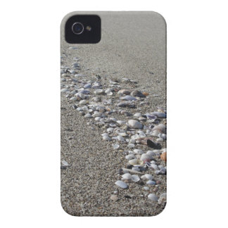 Seashells auf Sand. Sommerstrandhintergrund iPhone 4 Cover