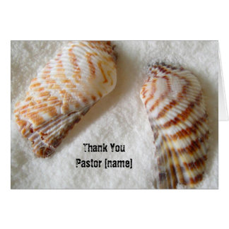 Seashells im Sand-Pastor-Klerus danken Ihnen Karte