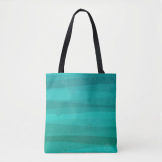 Seashells in den Wellen ganz vorbei - drucken Sie Tasche