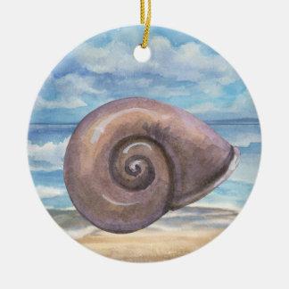 Seashells Rundes Keramik Ornament
