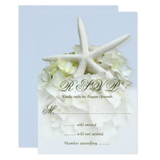 Seaside Garden Wedding Reply Enclosure Card 8,9 X 12,7 Cm Einladungskarte