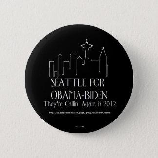 Seattle für Obama-Button Runder Button 5,7 Cm