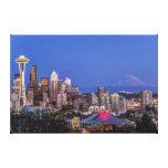 Seattle, le centre ville et mont Rainier au Impression Sur Toile