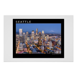 Seattle nachts poster