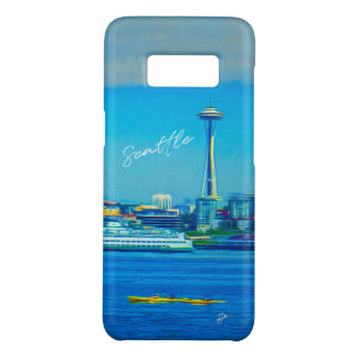 Seattle-Skyline-Handmit buchstaben Case-Mate Samsung Galaxy S8 Hülle