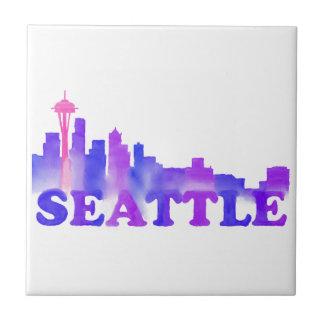 Seattle-Skyline Kleine Quadratische Fliese