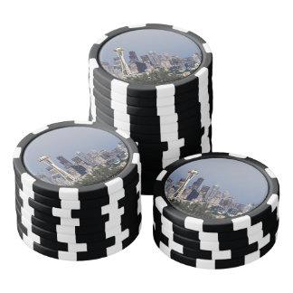 Seattle-Stadtbild Pokerchips