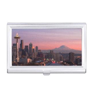Seattle von Kerry-Park Visitenkarten Etui