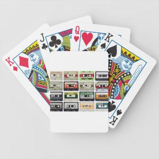 Sechzehn Audiokassetten Bicycle Spielkarten