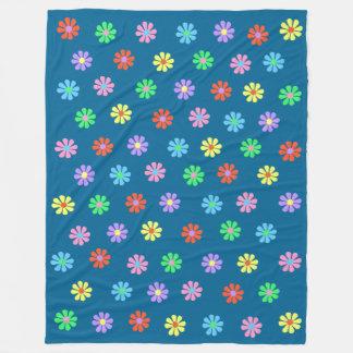 Sechzigerjahre Retro Blumen-Power-große Fleecedecke