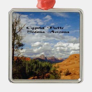 Sedona Arizona Quadratisches Silberfarbenes Ornament