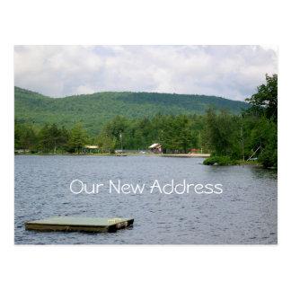 See-Ansicht-neue Adresse Postkarten
