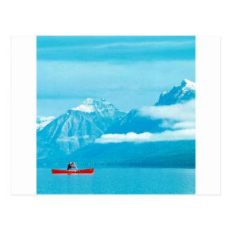 See, der am Gletscher-Park Montana Canoeing ist Postkarte
