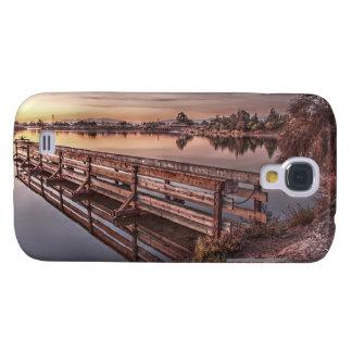 See-Dock am Sonnenaufgang-klaren starken Fall Galaxy S4 Hülle