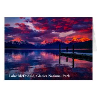 See McDonald, Glacier Nationalparkrothimmel Karte