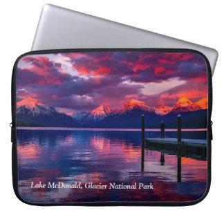 See McDonald, Glacier Nationalparkrothimmel Laptop Sleeve Schutzhüllen