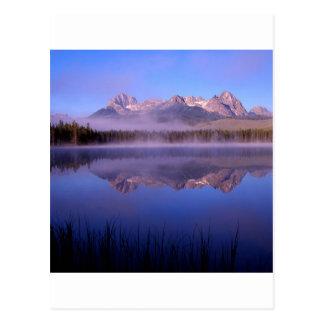See-Morgen an den kleinen Rotbarschen Idaho Postkarte