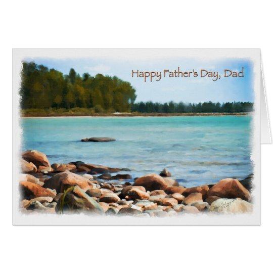 See-Ufer-Szenen-glückliche Vatertags-Karte Grußkarte