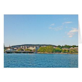See Zürich, Ansicht zur Bellewue Brücke Karte