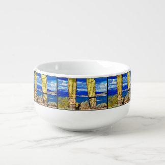 Seeangenehme Saguaro-Säulen-Suppen-Tasse Große Suppentasse