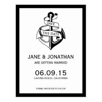 Seeanker, der Save the Date Wedding ist Postkarte