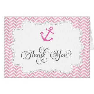 Seeanker-Hochzeit danken Ihnen zu kardieren Karte