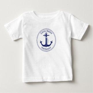 Seeanker-Marine-Blau-kleiner Seemann-Name Baby T-shirt