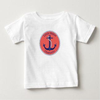 Seeanker-Marine und korallenroter kleiner Baby T-shirt