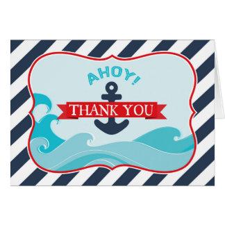Seeanker-Ozean-Wellen-Marine-Streifen danken Ihnen Karte