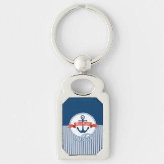 Seeanker-Seil-Band Stripes rotes weißes Blau Schlüsselanhänger