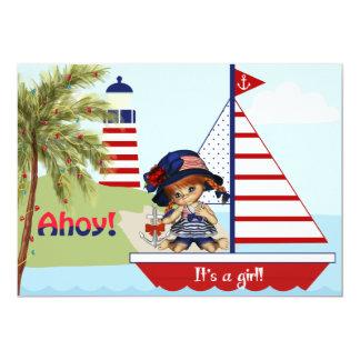 SeeBabyparty-Einladung für Mädchen 12,7 X 17,8 Cm Einladungskarte