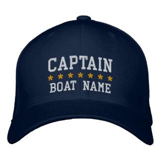 Seeblau kapitän-Your Boat Name Cap Bestickte Kappe