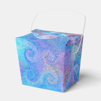 Seeblaue Locken Geschenkschachtel