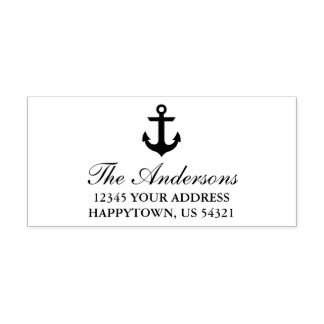 Seeboots-Anker-Namen-Adresse Permastempel