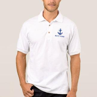 Seeboots-Namen-Anker-Polo Poloshirt