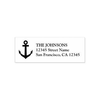 Seebootsankerselbst, der Adressen-Briefmarken mit Permastempel