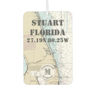 Seediagramm-Monogramm Stuarts Martin Florida Lufterfrischer