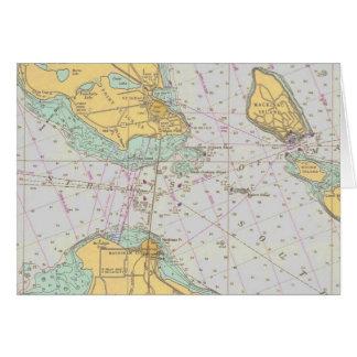 Seediagramm - Straßen von Mackinac - Karte