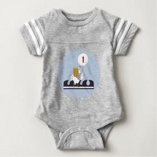 Seeerste Geburtstags-Bodysuit-Ausstattung Baby Strampler