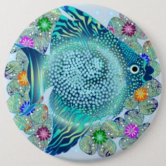 Seefische-Aquarium Runder Button 15,3 Cm
