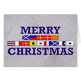 Seeflagge - Sandy-Weihnachtskarte Karte