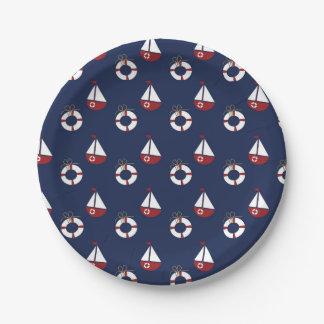 Seegeburtstags-Party-Ozean-Muster-Papier-Teller Pappteller 17,8 Cm